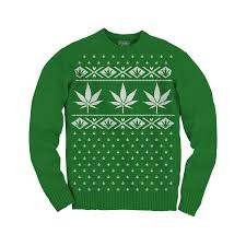 Ugly Christmas Sweater: Marijuana Leaf - from Shirts and Giggles