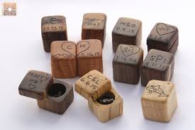 Decorative Ring Boxes Wedding Ring Box Engagement Ring Box Rustic Wood Mini Ring 7