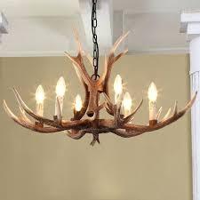 antler light tree branch chandelier led lamp clothing industrial wind loft dining living diy shadow