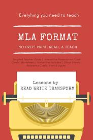 Mla Format Bundle Worksheets Presentation Task Cards Cheat