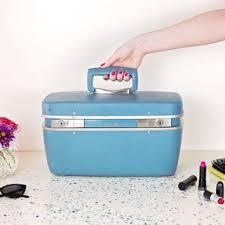 vine samsonite cosmetic train case 1960s small luge suitcase hard caboodle travel cosmetic case