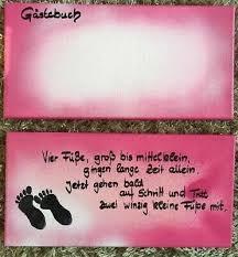 Baby Party Geburt Taufe Geschenk Spruch Leinwand Mädchen Rosa