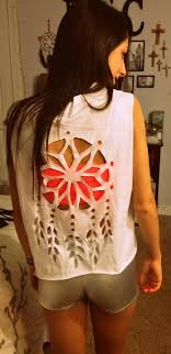Dream Catcher Shirt Diy 40 DIY TShirt Cutting Ideas for Girls Shirt cutting Dream 1