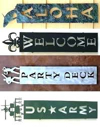 custom wall plaques personalized for home metal outdoor last name plaqu