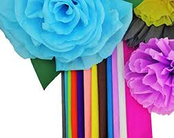 Making Of Flower With Paper Crepe Paper 12 Different Colors Flower Making Art Projects Crepe Paper