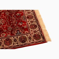 barefoot artsilk rugs indian agra red rug 4620 12 bare1098