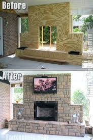 build your own stone outdoor fireplace cost to brick oven build your own