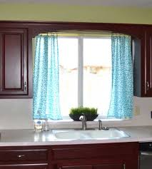 Decorations:Modern Kitchen Curtains Ideas - Tips And Advice Soft Turquoise  Curtains On The Small