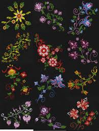 Machine Embroidery Patterns Magnificent Jacobean Flowers Machine Embroidery Designs Free Embroidery Patterns