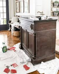 Weathered Gray Wood Look Vanity Makeover Blesser House