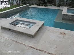 ivory tumbled travertine pool tiles and pavers modern pool