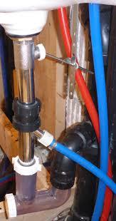bathroom sink plumbing with floor drain feed