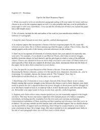 Example Of Response Essays English 123 Tips For Writing Response Essays