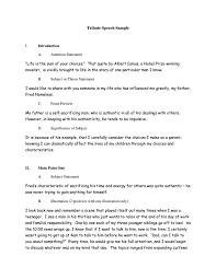 commemorative speech outline templates pdf premium  tribute speech