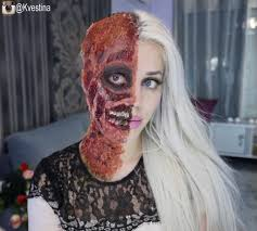 two face makeup is cosplayer s first time using prosthetics adafruit industries makers hackers artists designers and engineers