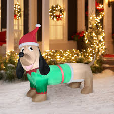 Dachshund Home Decor Christmas Outdoor Decorations Walmart Com Airblown Inflatable 5