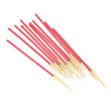 Red <b>10Pcs/Set Fine Hand</b>-painted Thin Hook Line Drawing Art Pens ...