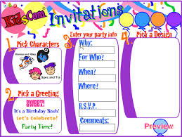 make free birthday invitations online free birthday invitations online marialonghi com