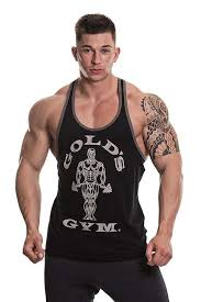 golds gym muscle joe contrast stringer black tank tops homme vêtement powerfood ch