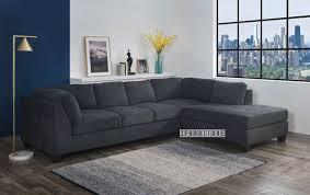 newton l shape sofa dark grey