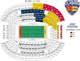 Lsu Football Ticket Seating Chart Lsu Miami Ticket Price Levels And Seating Chart