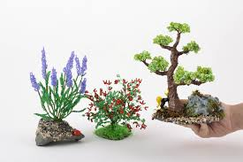 Small Picture MADEHEART Set of handmade beaded wire bonsai tree bush and