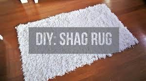 Diy Rug Diy Soft Fluffy White Shag Rug Area Rug Floor Rug Youtube