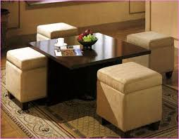 Round Coffee Table Ottomans Underneath U2014 Bitdigest Design : The With Regard  To Coffee Table With Seating Underneath