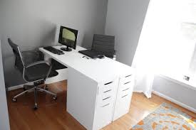 ikea office makeover. Luxury Two Person Desk Ikea I K E A Minimalist Hacker Idea Diy Uk Facing Each Other Amazon With Office Makeover