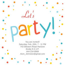 Confetti Dots Frame Printable Party Invitation Template