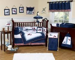 navy blue vintage airplane baby boy crib bedding set sets cot nursery girls sheets sports uni