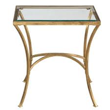 gold end table. Alayna Gold End Table