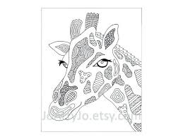 Printable Giraffe Coloring Pages For Adults Inspired Page Sheets
