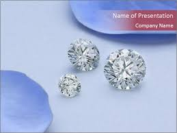 Precious Round Shaped Diamonds Powerpoint Template Backgrounds