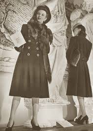1940s fashion winter coats and dresses
