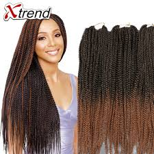Jumbo Box Braids Hair Havana Mambo Twist Crochet Braids Ombre Purple Kanekalon Synthetic Braiding