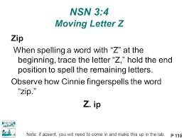 NSN 3 4 Moving Letter Z Z ip Zip