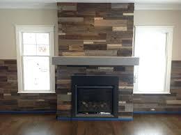 reclaimed wood fireplace wall reclaimed wood wall