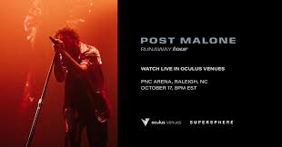 Pnc Arena Seating Chart Post Malone Post Malone Concert To Be Broadcast Live And Free In Oculus