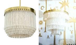 gold fringe chandelier metallic foil