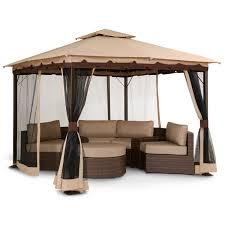WE NEED THIS GAZEBO SO BAD OMG patio Bali Gazebo with Screen