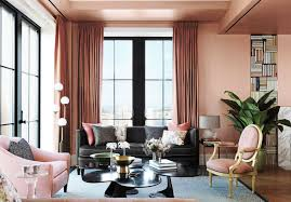 coral paint colorSoft Pink Coral Paint Color For Living Room With Gray Sofa And
