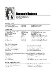 Music Resume Template Adorable Music Resume Format Music Resume Format For College Lovely Of