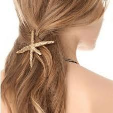 Celebrity Trending Gold <b>Starfish Hair Clip Hairpin</b> Wedding Barrette ...