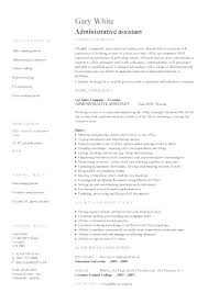 Office Administration Resume Examples Resume Template Directory