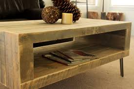 Image of: Reclaimed Wood End Table With Storage