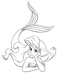 Ariel The Little Mermaid Coloring Pages At Getdrawingscom Free