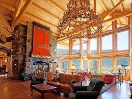 Log Cabin Living Room Concept Interesting Decorating Design