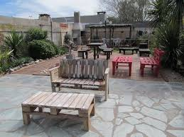 patio furniture pallets. Outdoor Pallet Furniture Ideas Backyard Patio Table Benches Stone Floor  Garden Paving Design Pallets