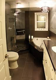 interior black and white tiny bathroom with shower decoration using dark grey ceramic bathroom flooring